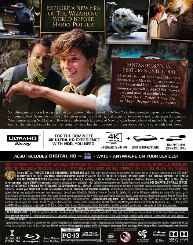 """""""Animales fantásticos y dónde encontrarlos"""" en 4K Ultra HD, 3D, Blu-ray y Dvd el 27 de marzo [Actualizado] • En tu pantalla"""