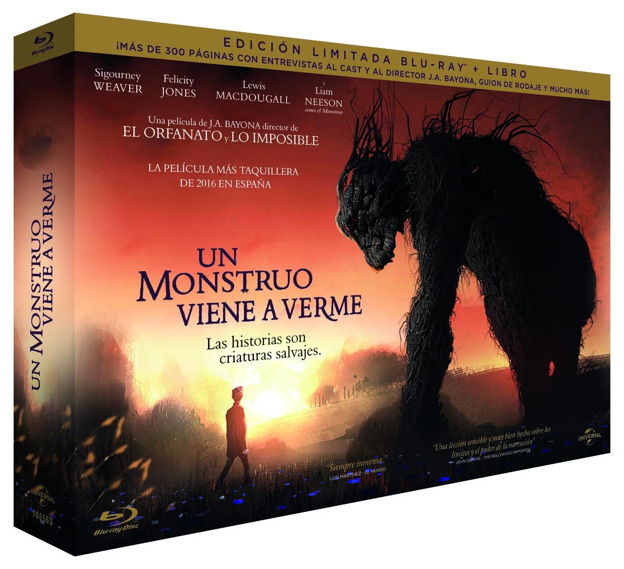 """""""Un monstruo viene a verme"""" en Blu-ray y Dvd el 10 de febrero. Y en Marzo una edición limitada."""