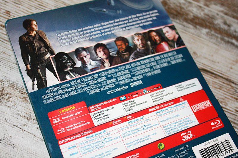 """Coleccionismo: """"Rogue One: Una historia de Star Wars"""" Edición Steelbook (3D+2D)"""