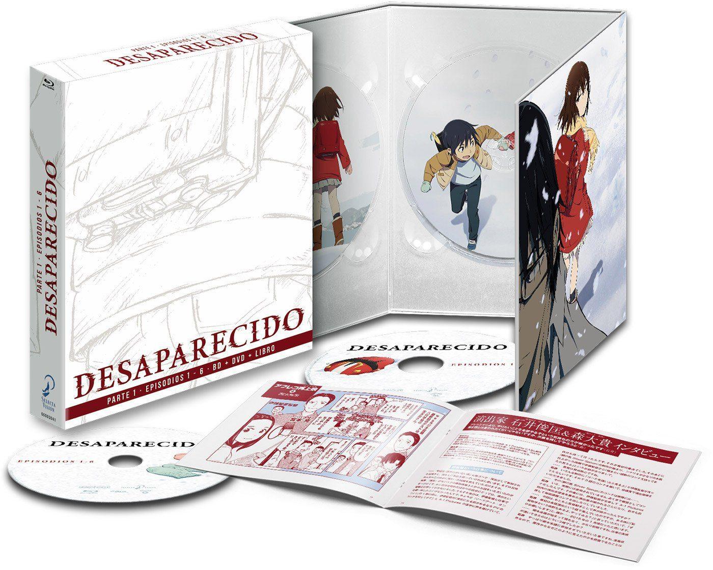 El anime 'Desaparecido, Parte 1' en Blu-ray el 31 de mayo • En tu pantalla