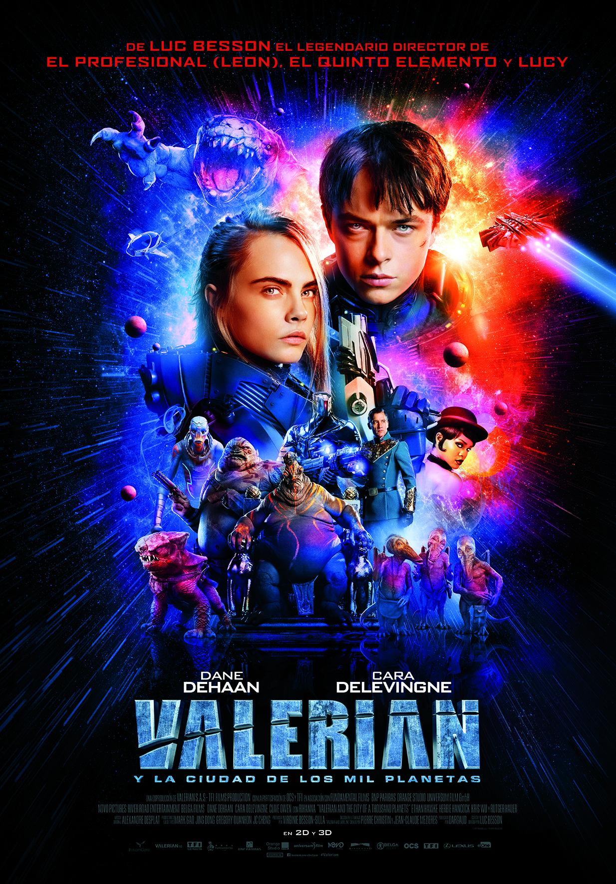 """Nuevo y espectacular tráiler de """"Valerian y la ciudad de los mil planetas"""" • En tu pantalla"""