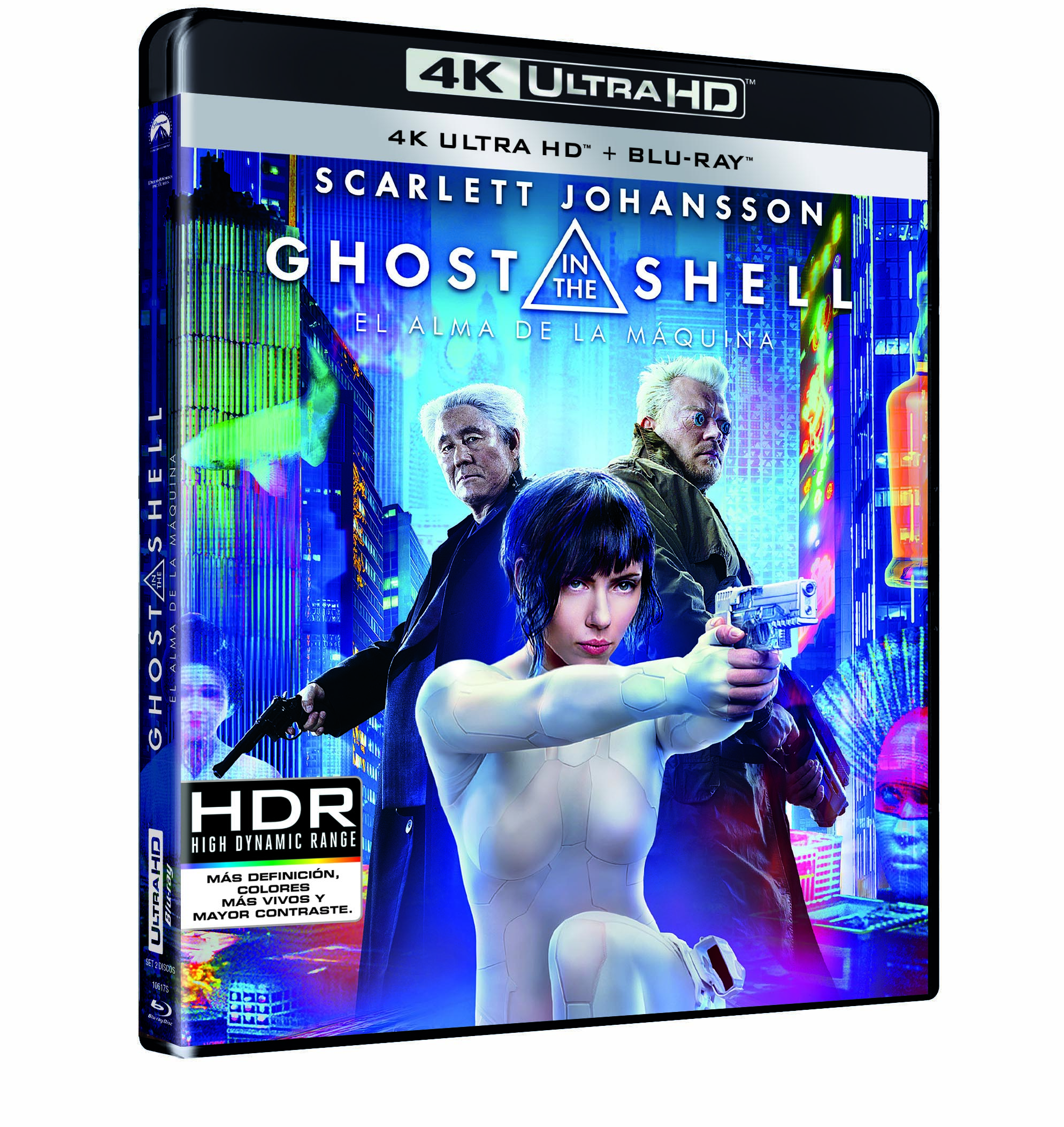 'Ghost in the Shell' en 4K, Steelbook, Blu-ray y Dvd el 26 de julio • En tu pantalla