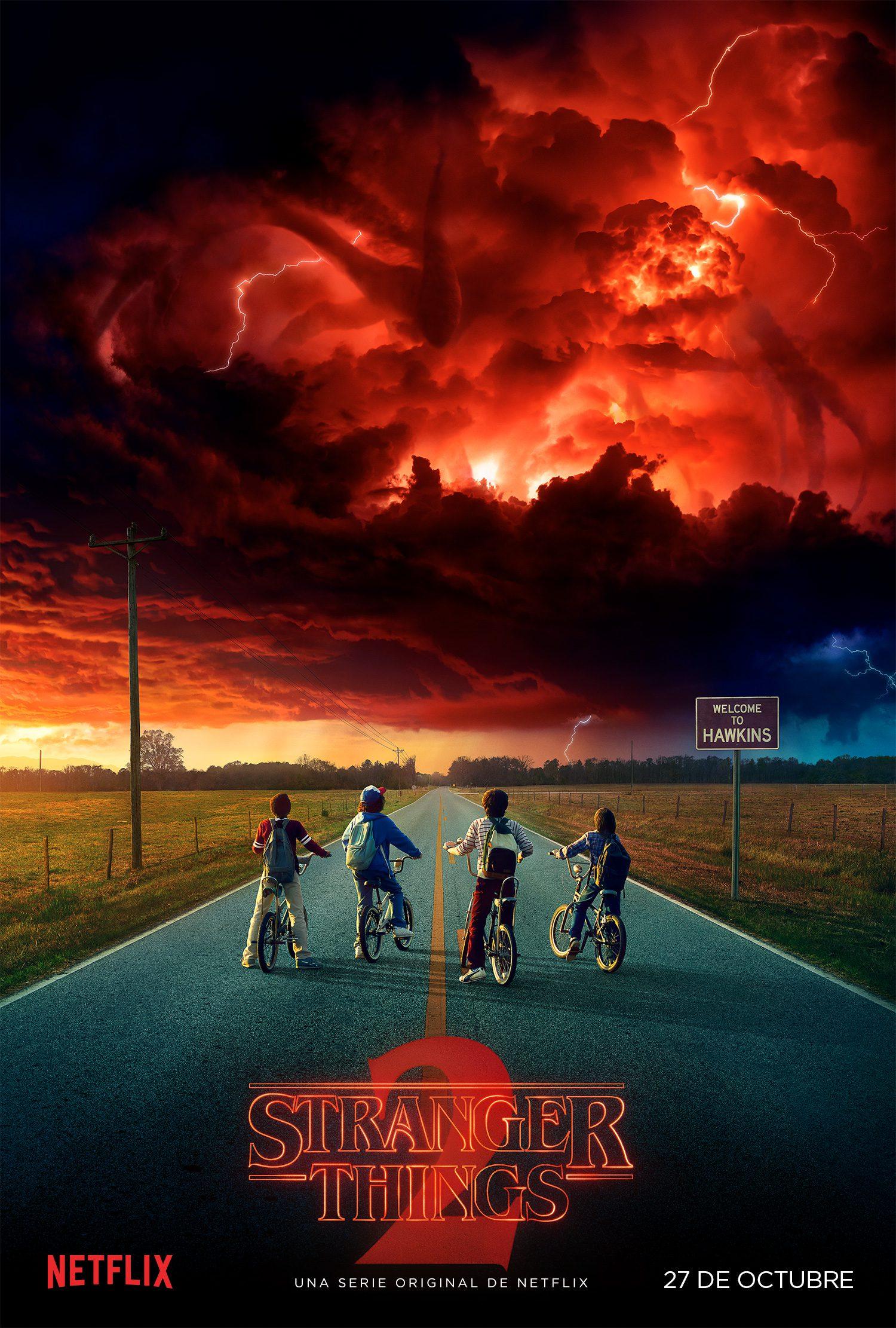 'Stranger Things 2' llegará el 27 de octubre a Netflix y presenta nuevo póster • En tu pantalla