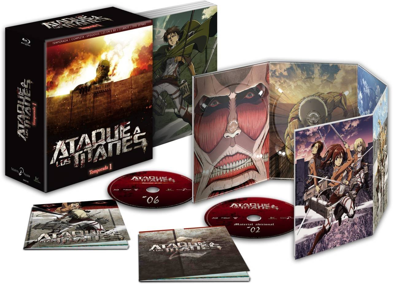 'Ataque a los titanes: Temp. 1': ¡Edición Coleccionista en Blu-ray ya a la venta! • En tu pantalla