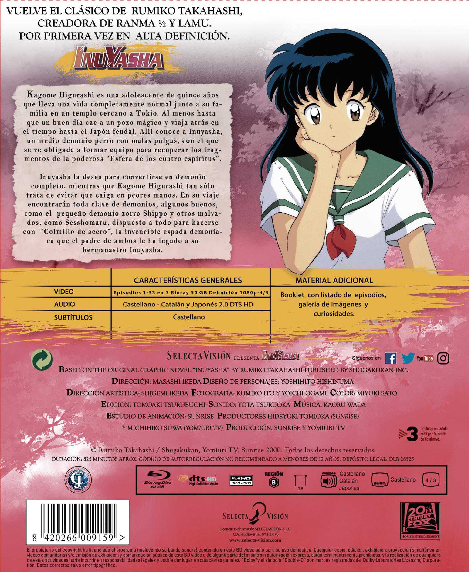 'InuYasha: Temporada 1' en Blu-ray y Dvd en Abril [ACTUALIZADO] • En tu pantalla