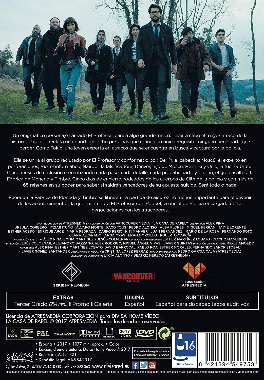 'La casa de papel' llega en Dvd el 8 de enero • En tu pantalla