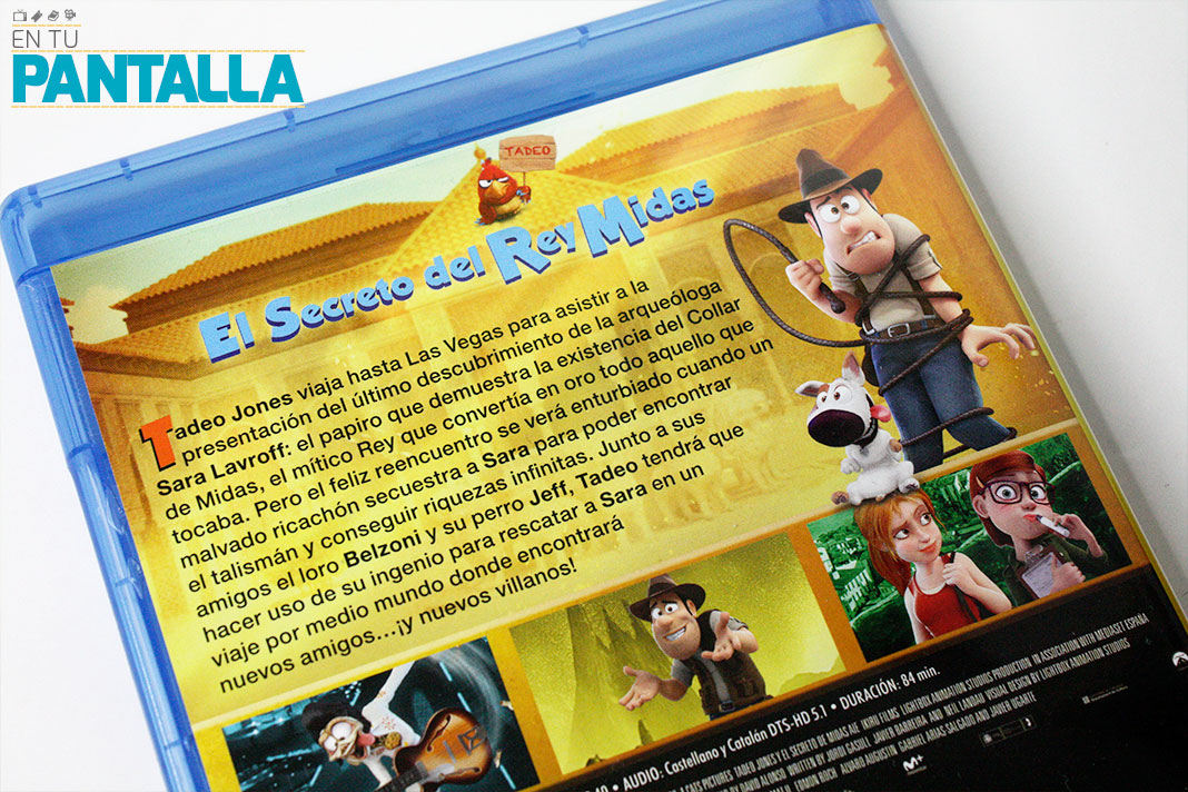 'Tadeo Jones 2: El Secreto del Rey Midas', un vistazo a la edición Blu-ray • En tu pantalla