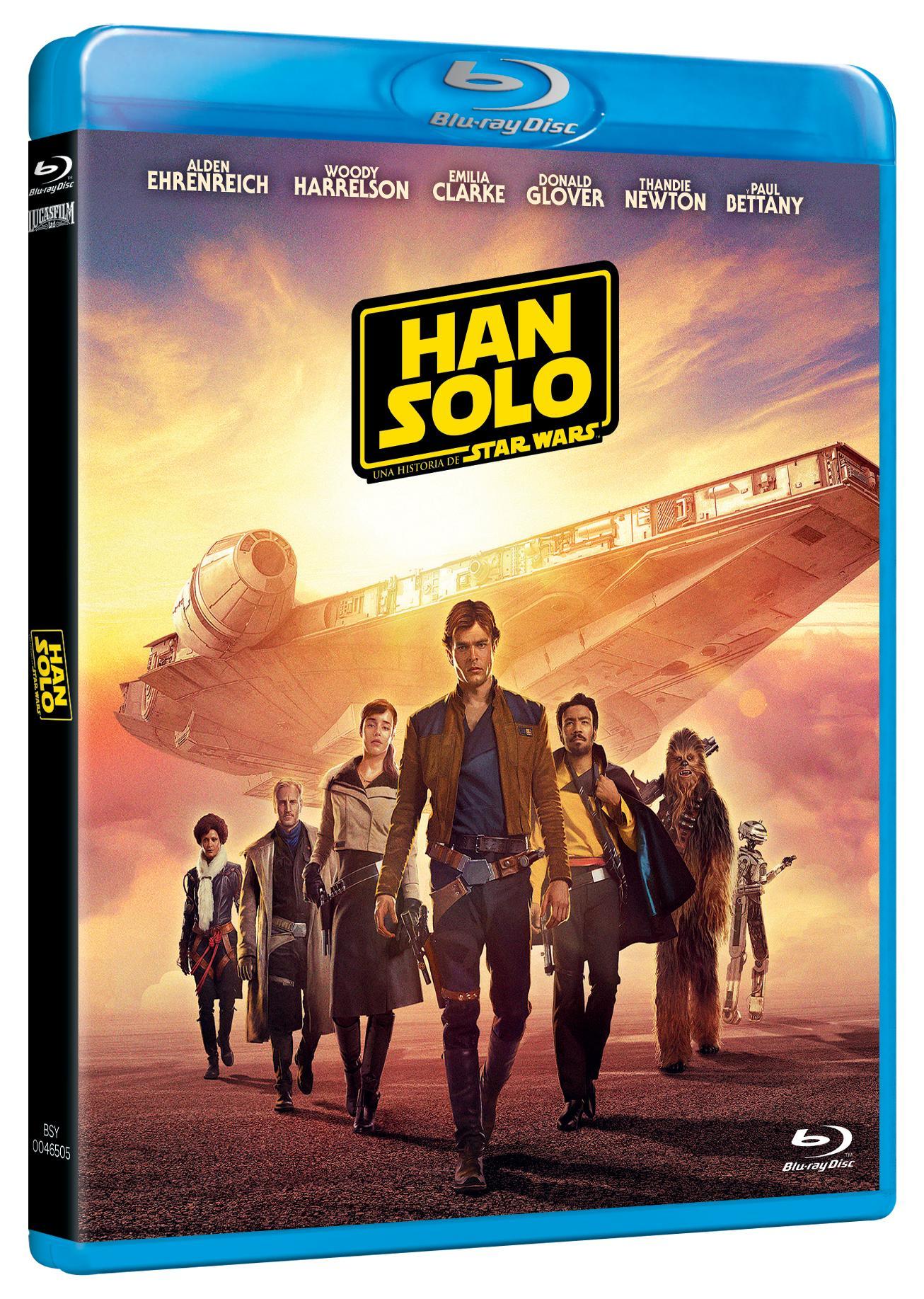 Carátula 'Han Solo' Blu-ray