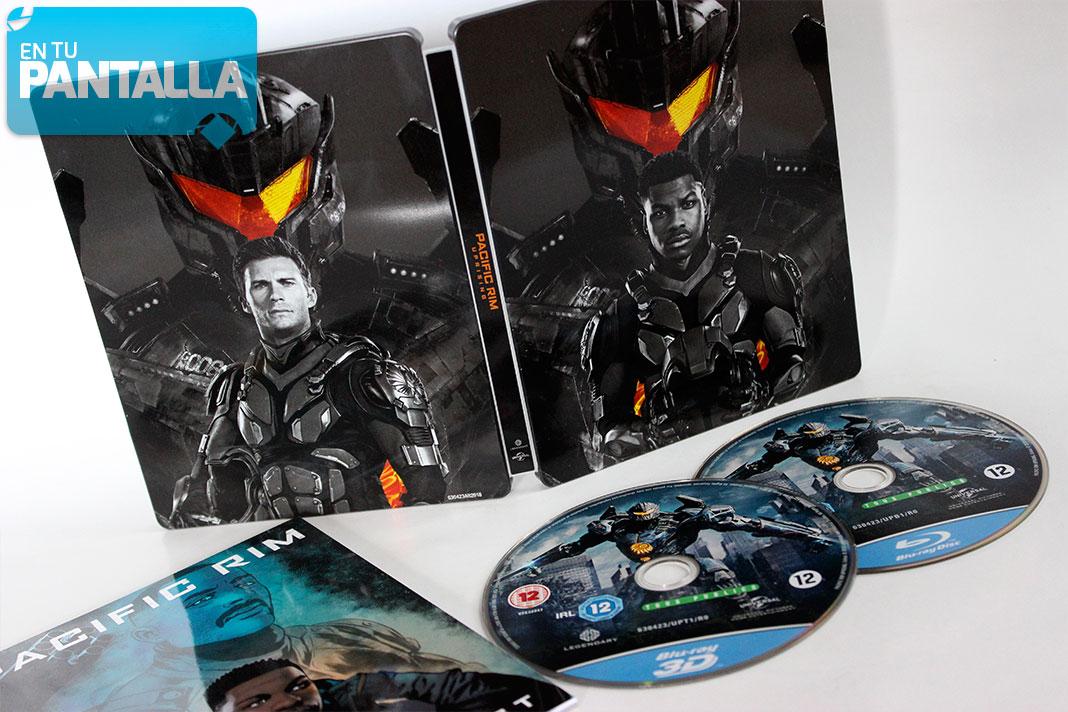 'Pacific Rim: Insurrección': El Steelbook Blu-ray con la película en 2D + 3D • En tu pantalla