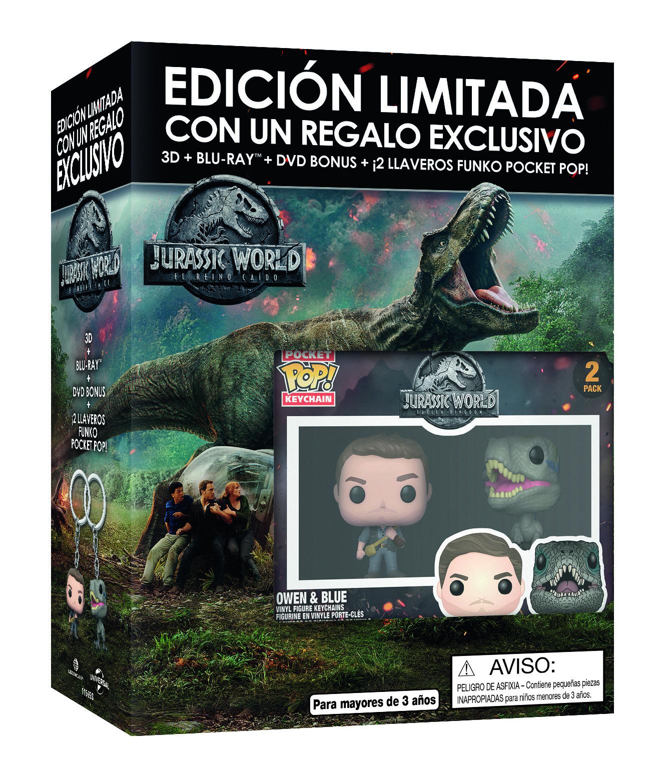Jurassic World: El Reino Caído Funko 3D y 2D
