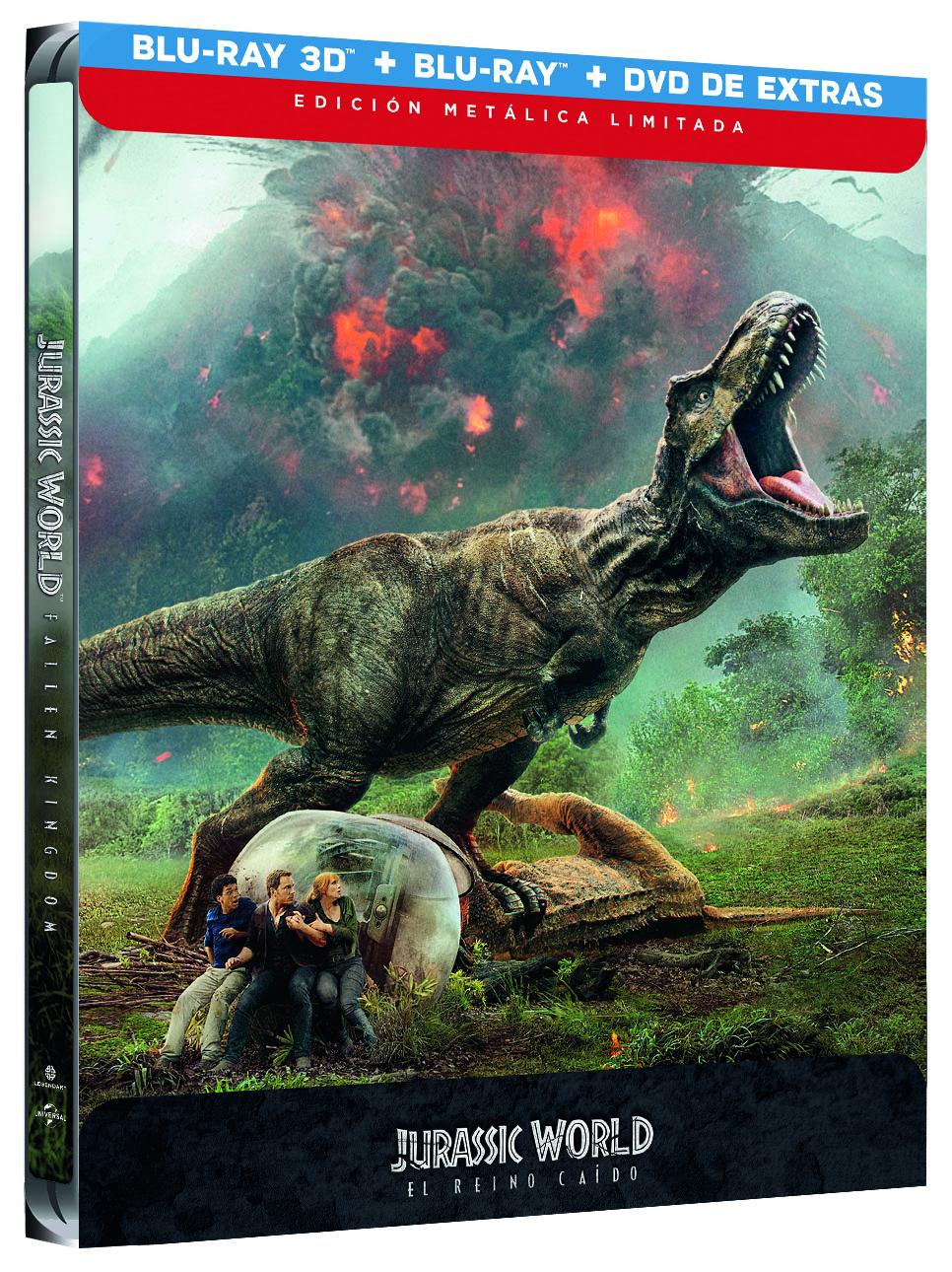 Jurassic World: El Reino Caído Steelbook 3D y 2D