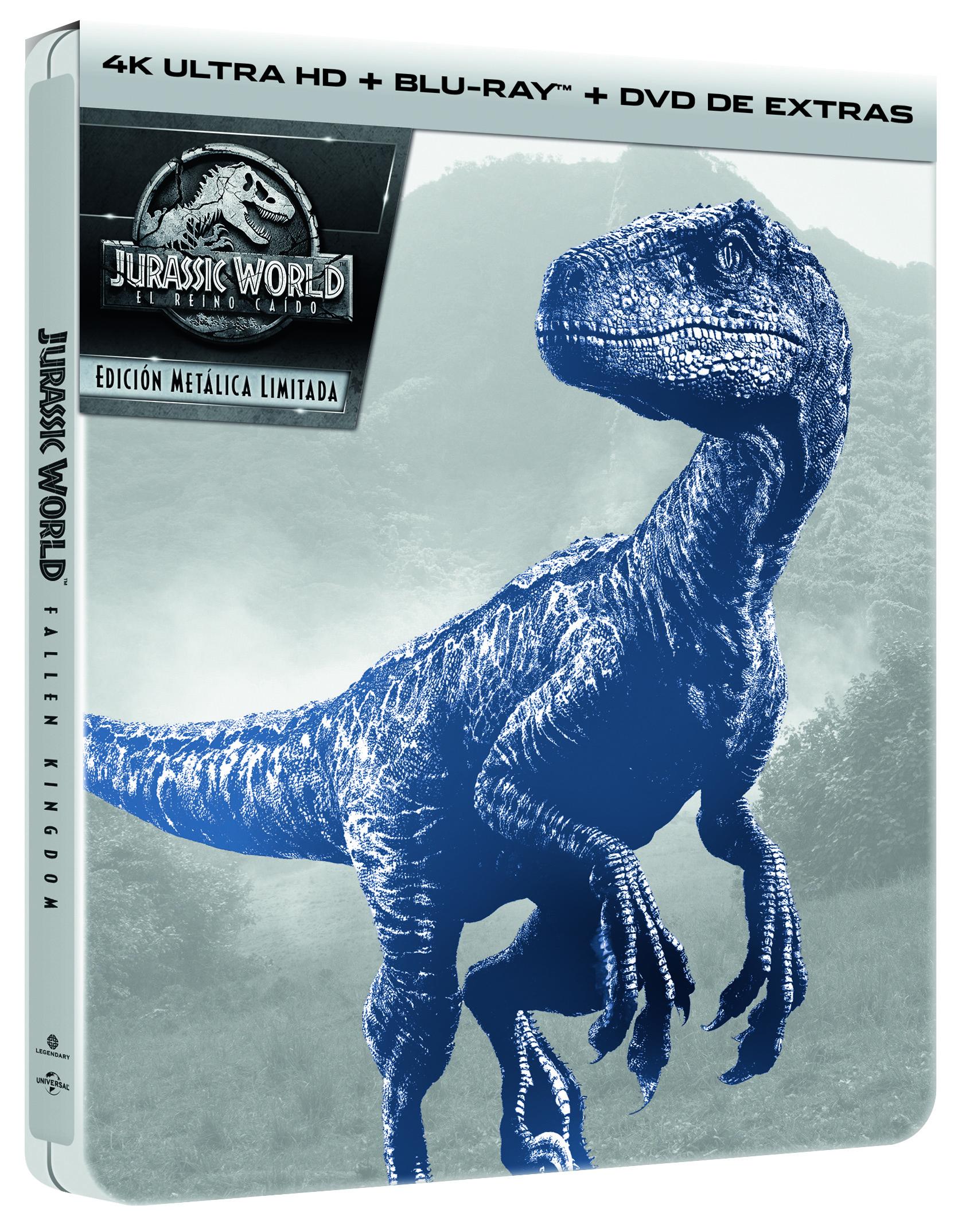 Jurassic World: El Reino Caído Steelbook 4K Ultra HD
