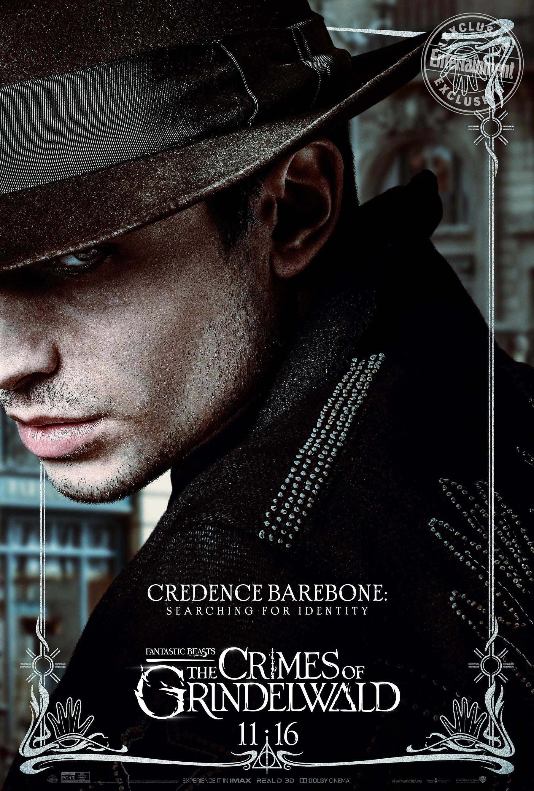 Credence Barebone en 'Animales fantásticos: Los Crímenes de Grindelwald'