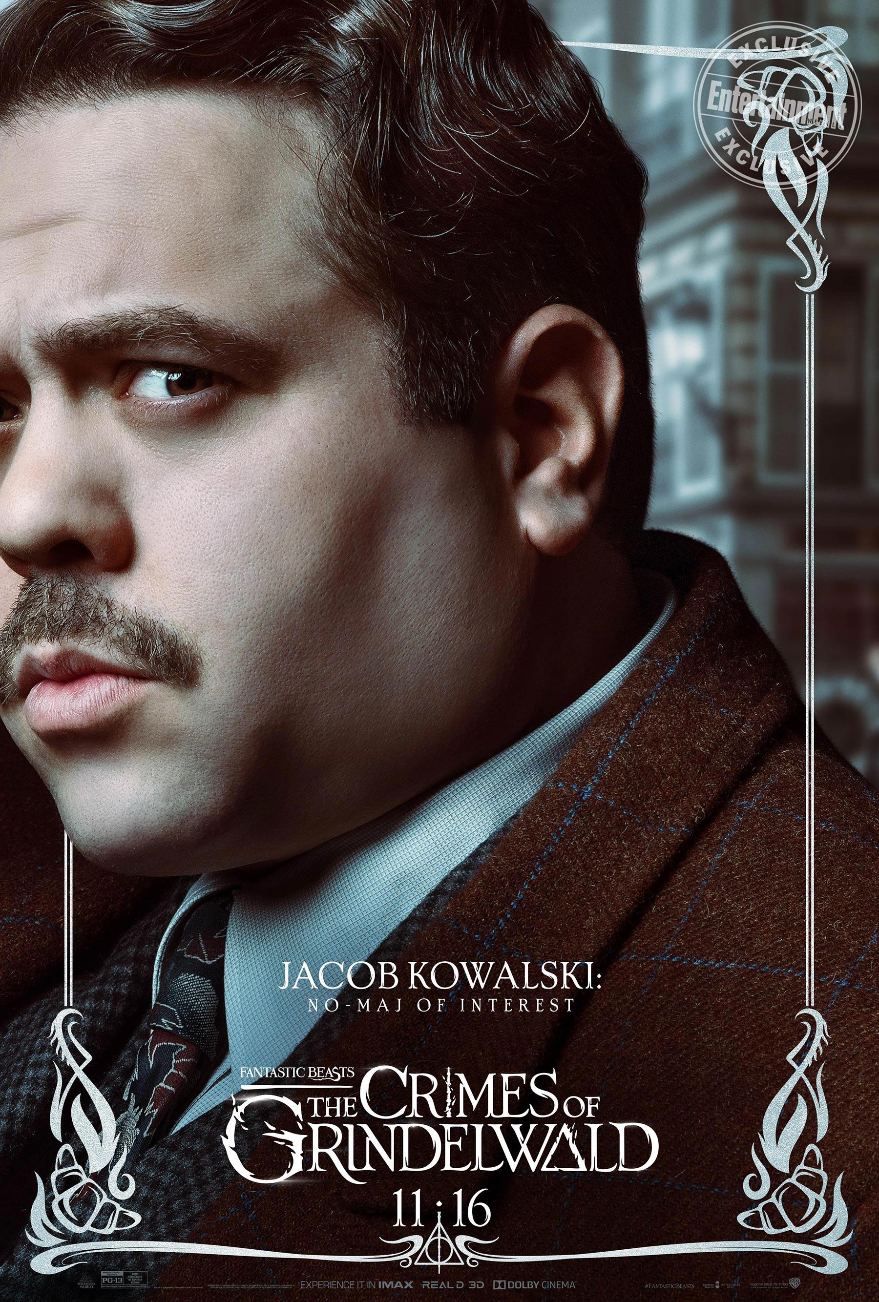 Jacob Kowalski en 'Animales fantásticos: Los Crímenes de Grindelwald'