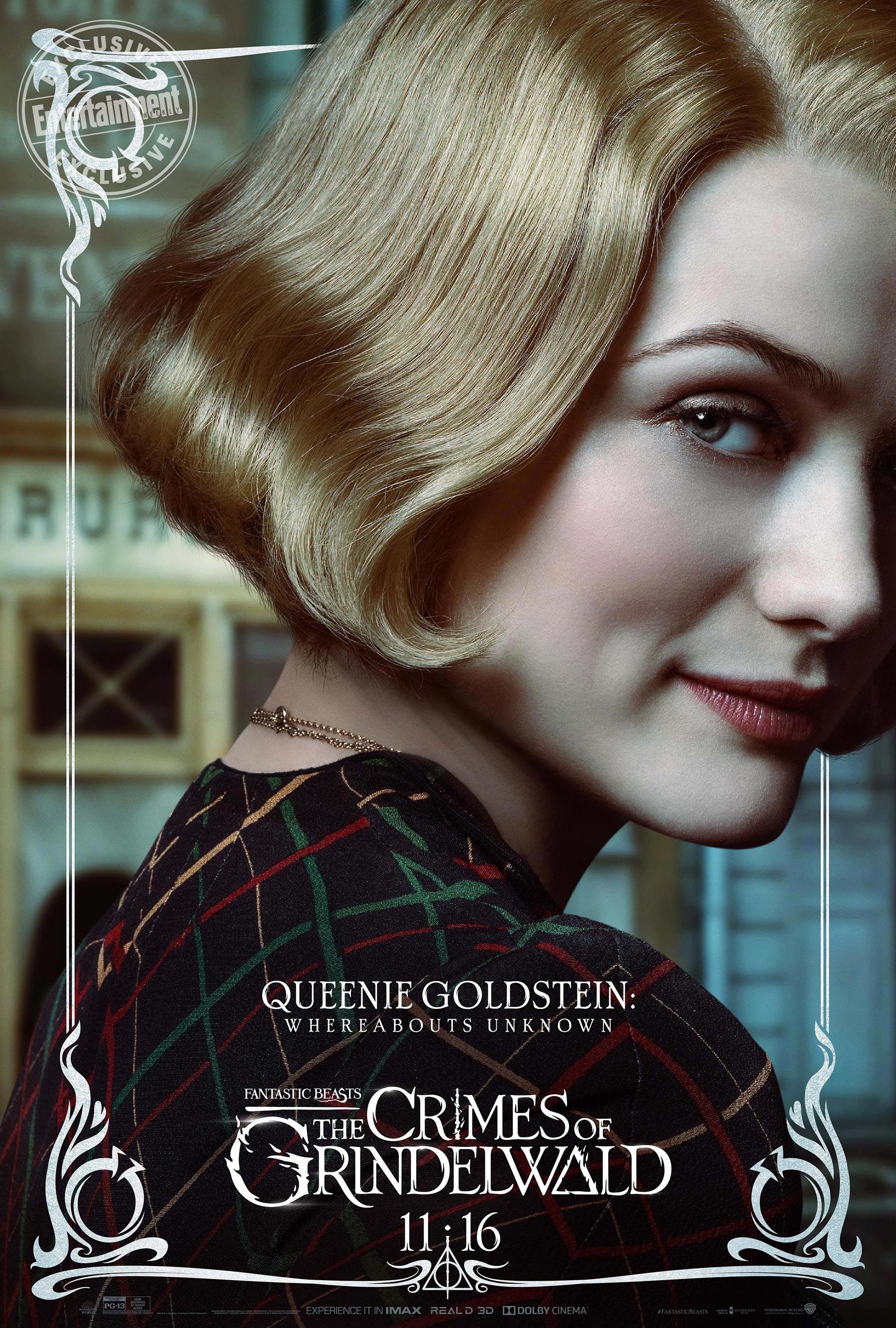 Queenie Goldstein en 'Animales fantásticos: Los Crímenes de Grindelwald'