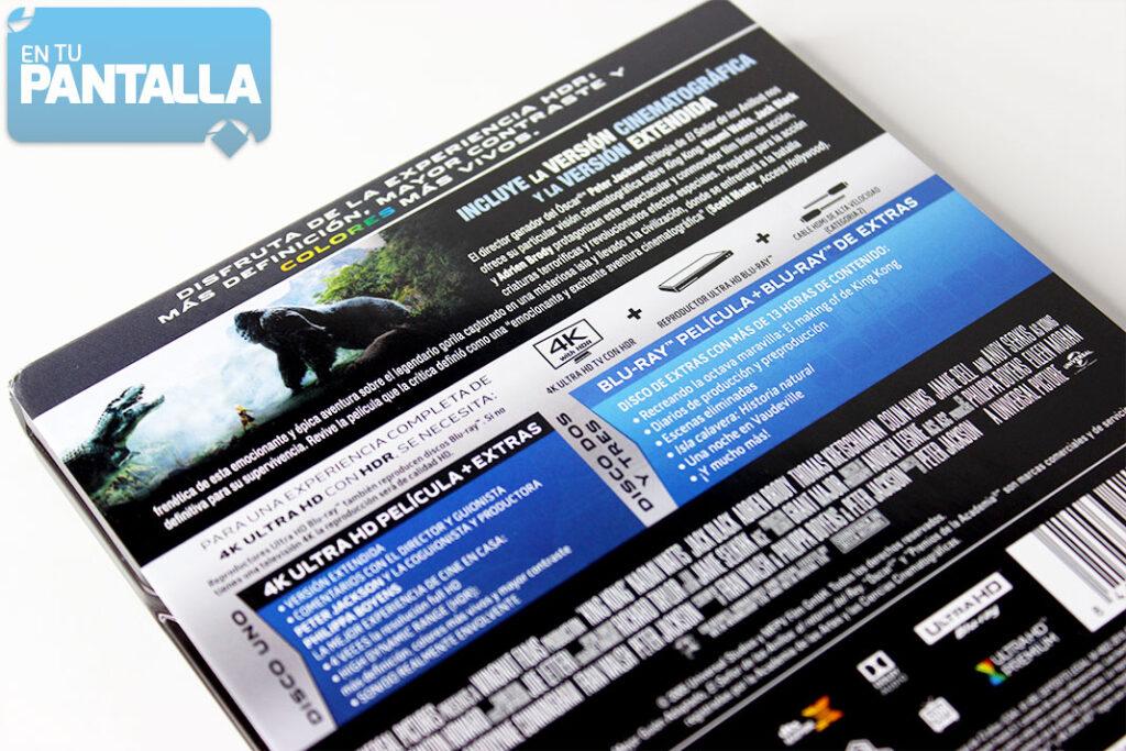 'King Kong', un vistazo al Steelbook 4K Ultra HD
