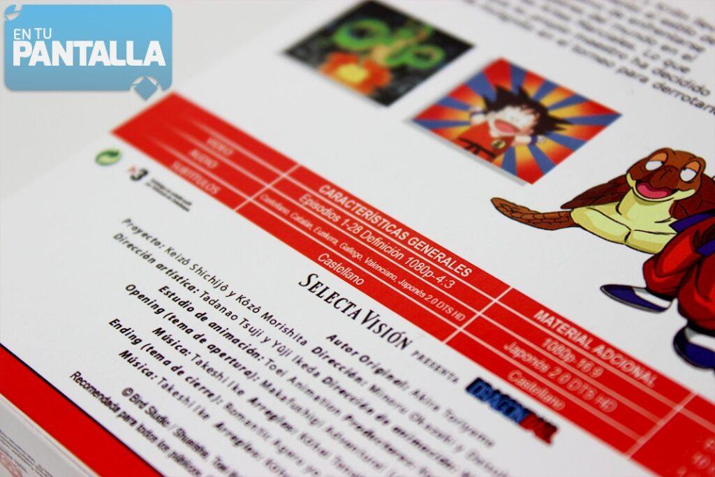 Un vistazo al primer box en Blu-ray de 'Dragon Ball'