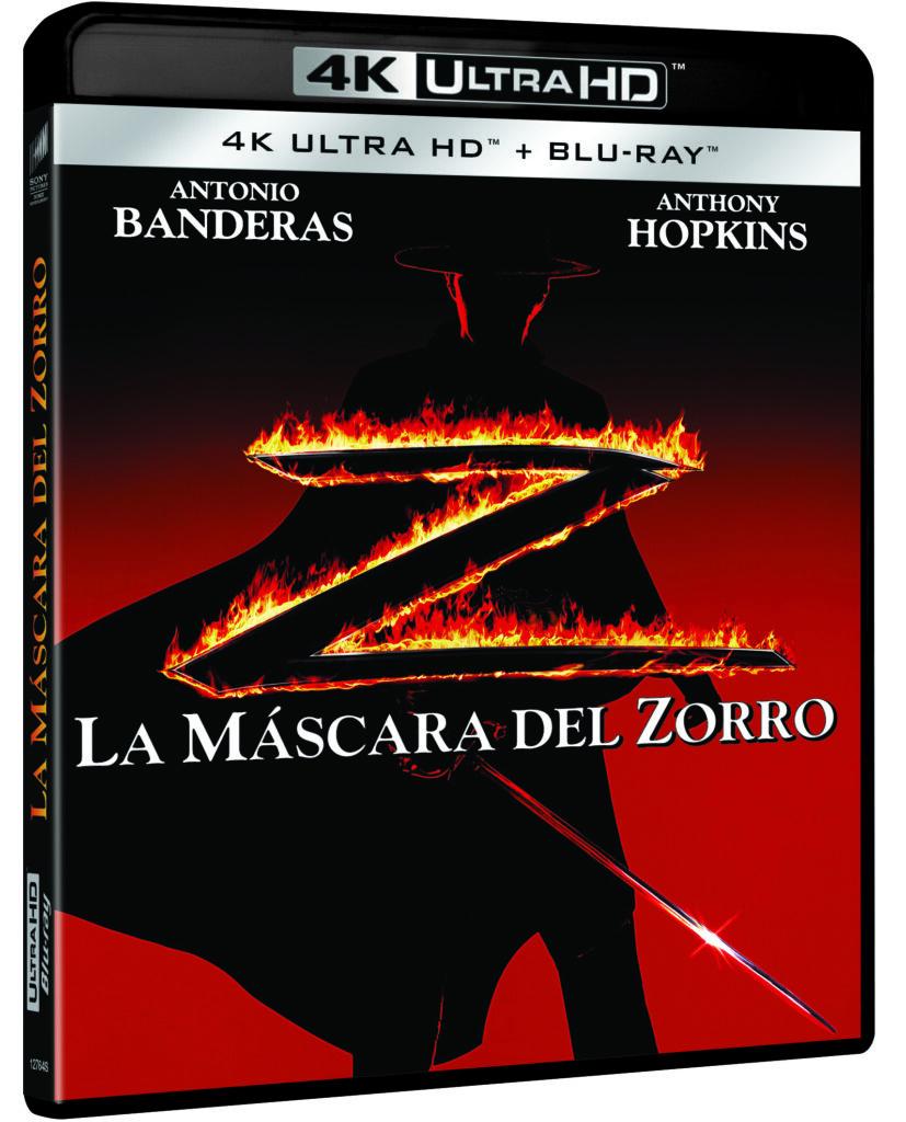 'La máscara del Zorro' llegará en 4K Ultra HD el 22 de mayo