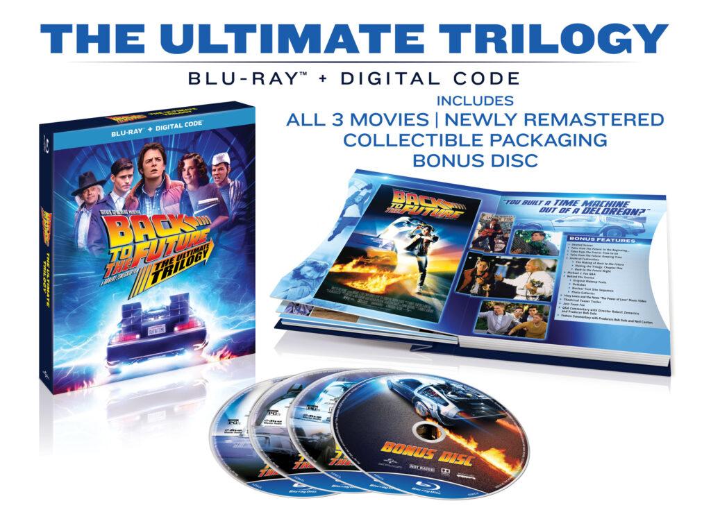 Pack 'Regreso al futuro' en Blu-ray. (Pertenece al lanzamiento en EE.UU.)