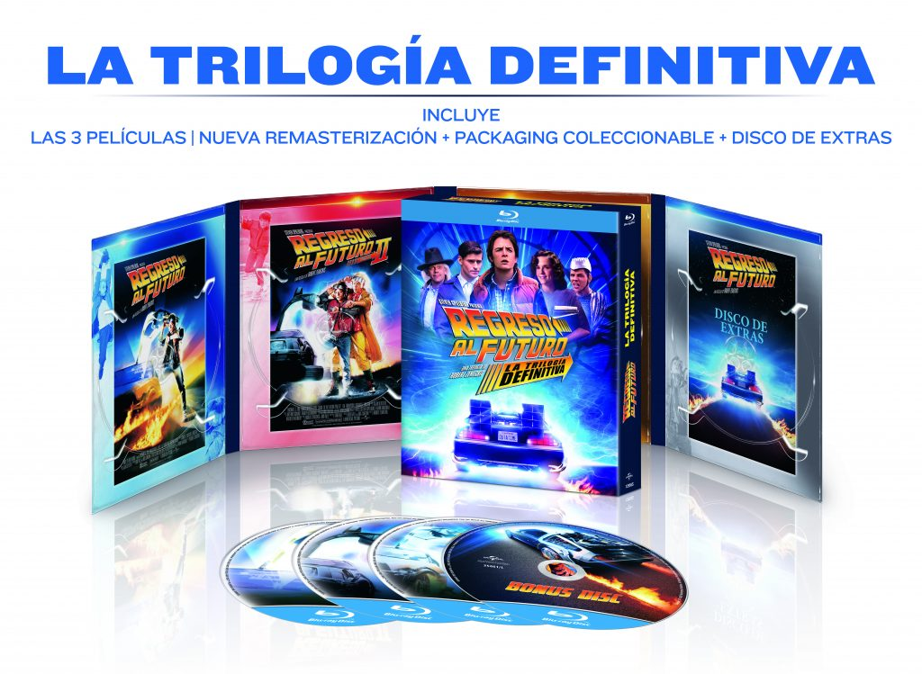 'Regreso al futuro' pack en Blu-ray