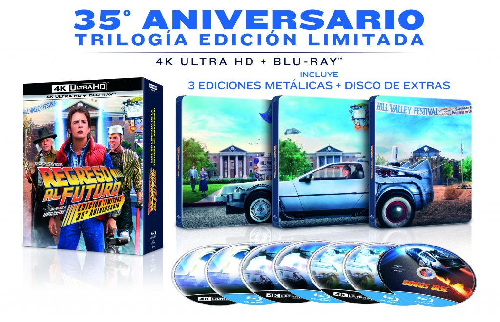 'Regreso al futuro' pack en 4K Ultra HD