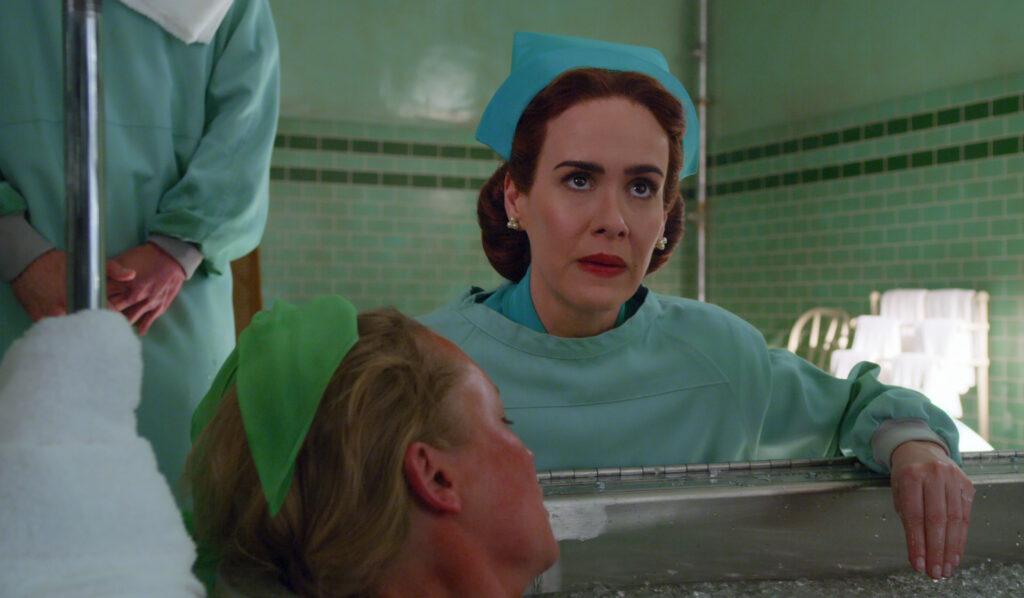 Sarah Paulson como Mildred Ratched en 'Ratched'. (Fuente: Netflix)