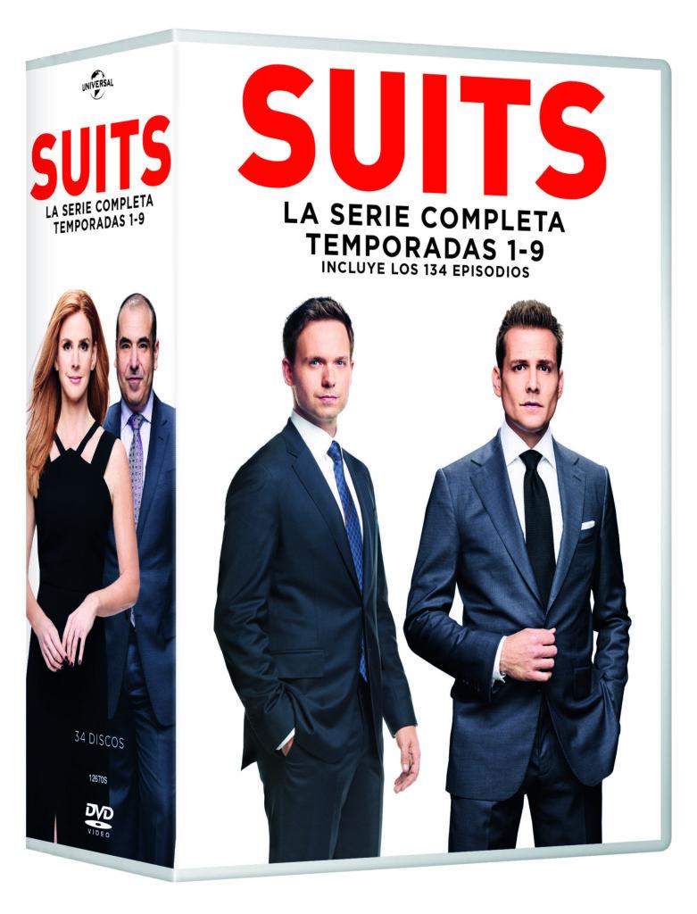 Pack de 'Suits', la serie completa en Dvd. (Fuente: Sony Home Video)