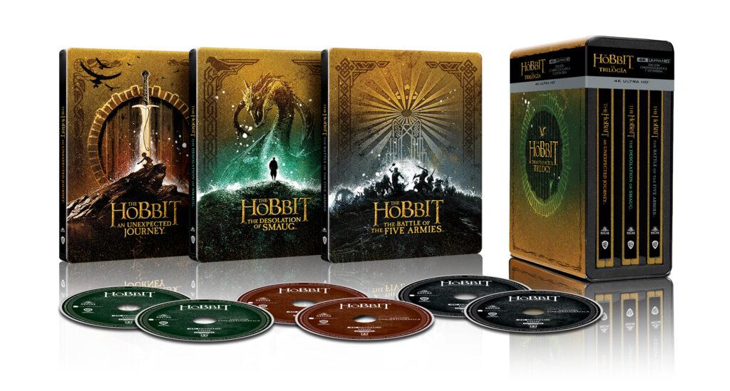 Pack en 4K Ultra HD Steelbook de la trilogía de El Hobbit.