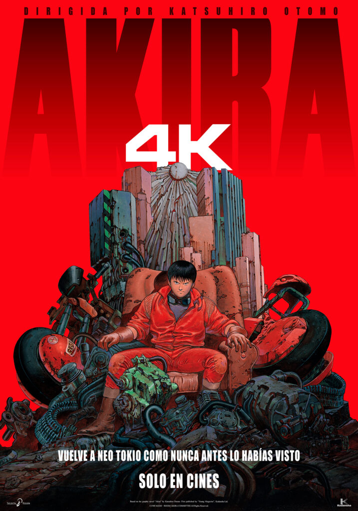 'Akira' llegará en 4K a los cines el 11 de diciembre • En tu pantalla
