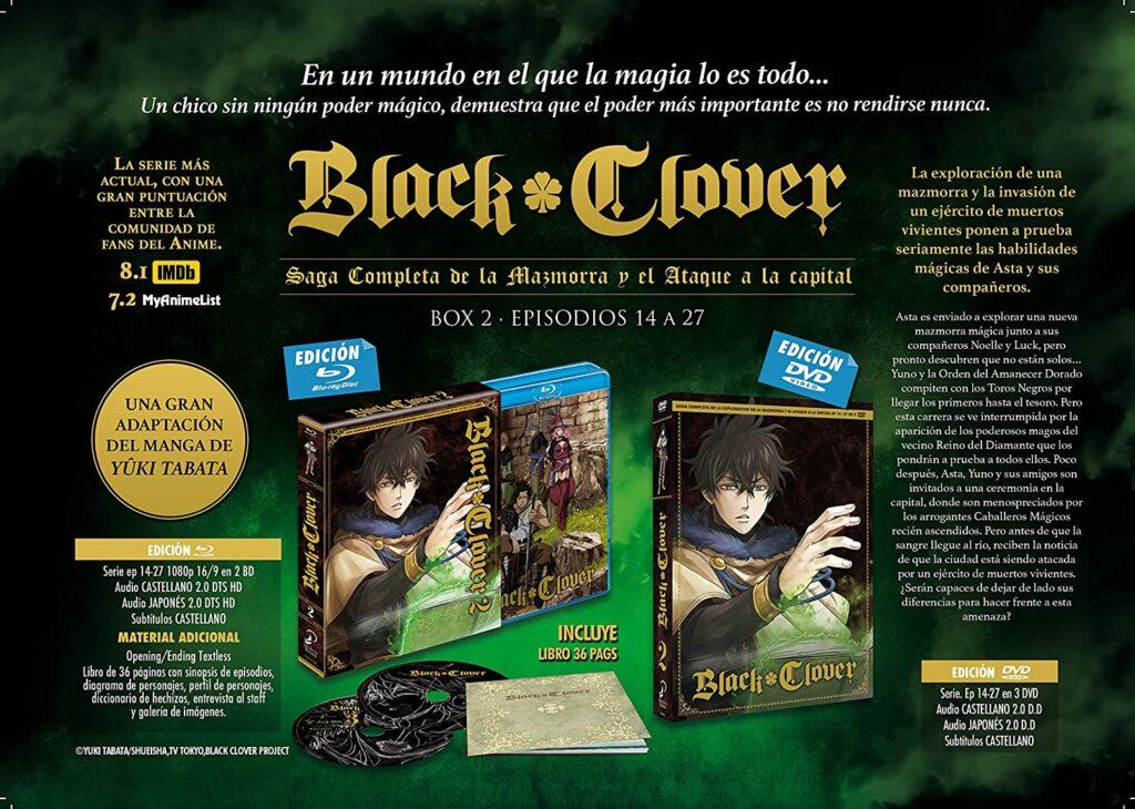 Imagen promocional del segundo box de 'Black Clover'. (Fuente: Selecta Visión)