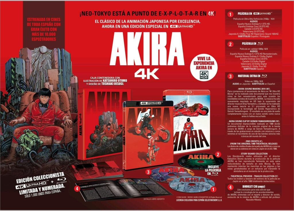 'Akira' llegará en 4K Ultra HD el 26 de mayo • En tu pantalla