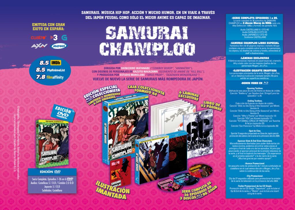 'Samurai Champloo': El 28 de abril una edición coleccionista en Blu-ray de Selecta Visión • En tu pantalla