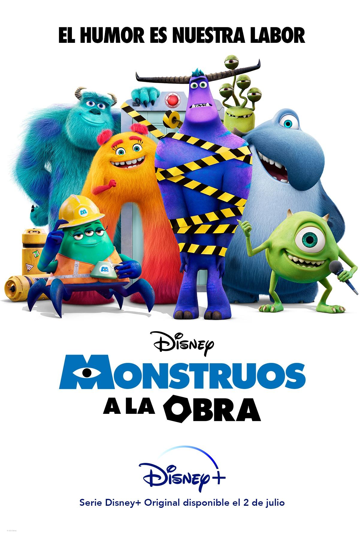 'Monstruos a la obra': Teaser de la serie original de Pixar • En tu pantalla