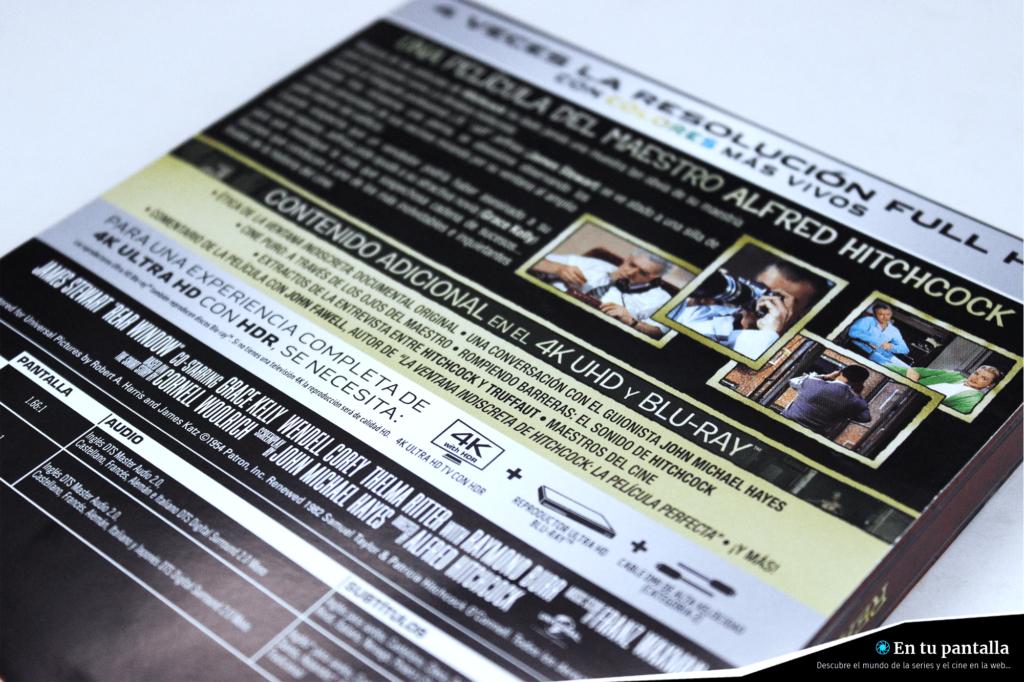 'La ventana indiscreta': Un vistazo al steelbook 4K Ultra HD • En tu pantalla