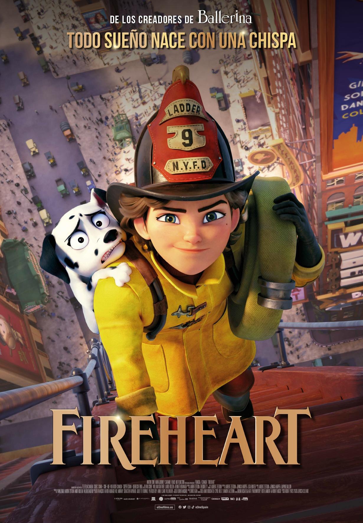 'Fireheart': Tráiler de la nueva película de los creadores de 'Ballerina' • En tu pantalla